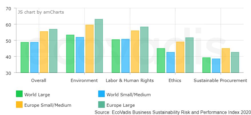 Report annuale di EcoVadis sulla sostenibilità