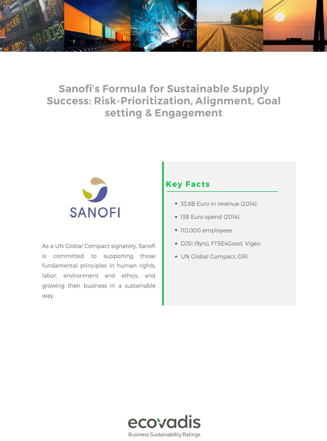 EcoVadis Case Study: Sanofi