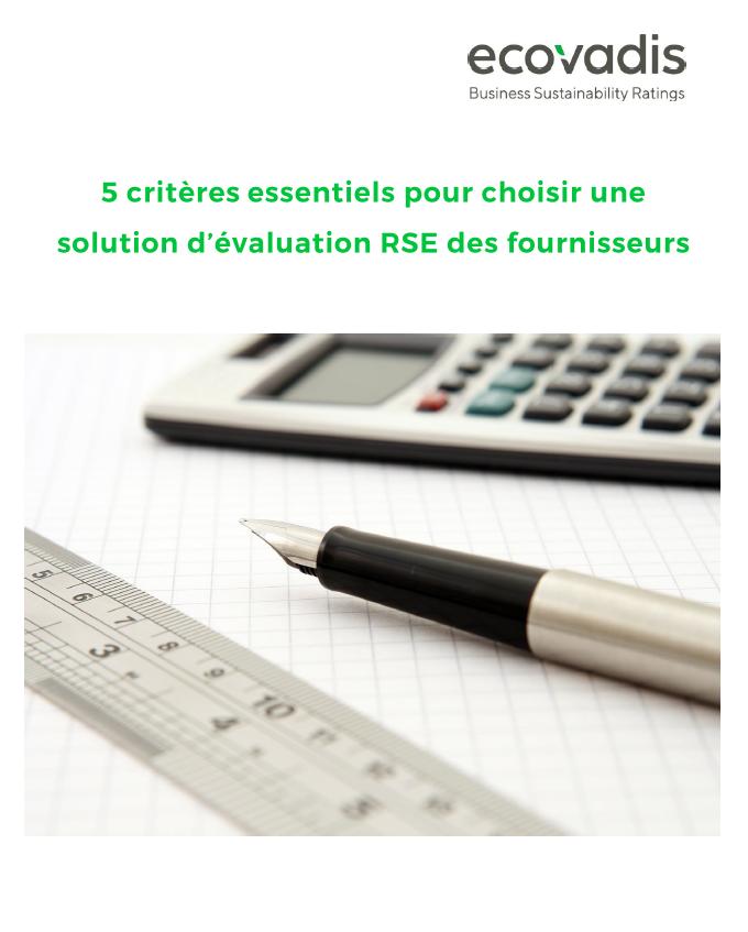 Choisir un système d'évaluation des risques et performances RSE des fournisseurs